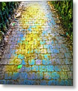Colored Stones And Lichen Covered Bridge Metal Print