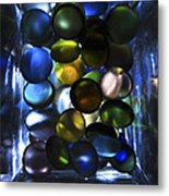 Colored Stones Of Light Metal Print