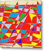 Colored Triangles Metal Print