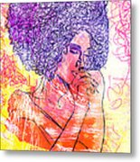 Colored Woman Metal Print by Kenal Louis