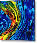 Colorful Abstract Art - Energy Flow 2 - By Sharon Cummings Metal Print