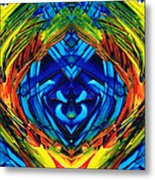 Colorful Abstract Art - Purrfection - By Sharon Cummings Metal Print