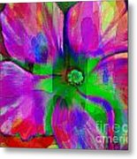 Colorful African Violet Metal Print