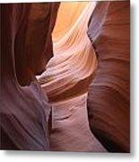Colorful Antelope Canyon Waves Metal Print