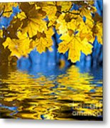 Colorful Autumn Leaves Metal Print by Boon Mee