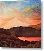 Colorful Autumn Sunset Metal Print