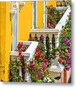 Colorful Balconies Metal Print