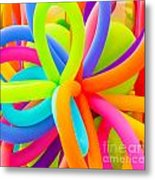 Colorful Balloons Background Metal Print