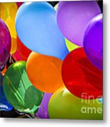 Colorful Balloons Metal Print