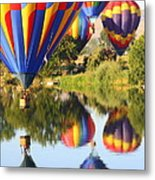Colorful Balloons Fill The Frame Metal Print