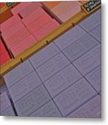 Colorful Bars Soap On Market In Provence Metal Print