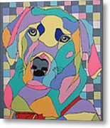 Colorful Dog Bear Metal Print