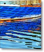 Colorful Boat On The Water Metal Print