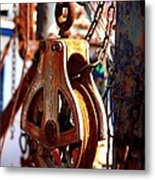 Colorful Boat Pully Metal Print