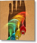 Colorful Bottle Shadows Metal Print