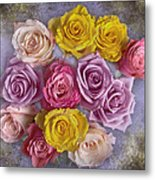 Colorful Bouquet Of Roses Metal Print
