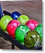 Colorful Bowling Balls Metal Print