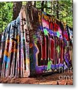 Colorful Box Car In The Forest Metal Print