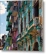 Colorful Buildings In Havana Metal Print