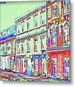 Colorful Buildings Metal Print