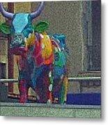 Colorful Bull Metal Print