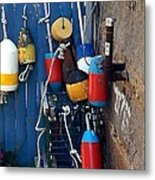 Colorful Buoys Metal Print