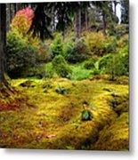 Colorful Carpet Of Moss In Benmore Botanical Garden Metal Print