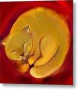 Colorful Cat 1 Metal Print