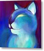 Colorful Cat 3 Metal Print