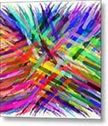 Colorful Cattails Metal Print