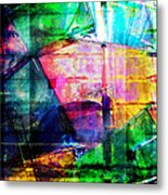 Colorful Cd Cases Collage Metal Print