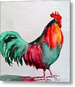 Colorful Chicken Metal Print