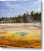 Colorful Chromatic Geyser In Upper Geyser Basin Metal Print