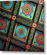 Colorful Church Ceiling Metal Print