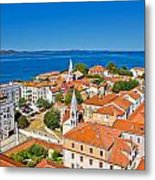 Colorful City Of Zadar Rooftops  Towers Metal Print