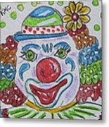 Colorful Clown Metal Print
