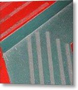 Colorful Concrete Steps Metal Print