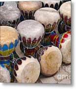 Colorful Congas Metal Print