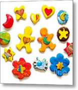 Colorful Cookies Metal Print