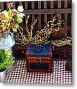 Colorful Country Still Life Metal Print