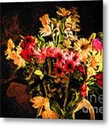 Colorful Cut Flowers - V3 Metal Print