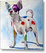 Colorful Dalmatian Chihuahua Metal Print