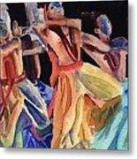Colorful Dancers Metal Print