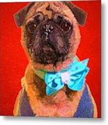 Colorful Dapper Pug Metal Print