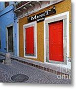 Colorful Doors Guanajuato Mexico Metal Print