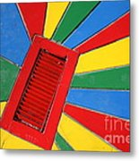Colorful Drain Metal Print
