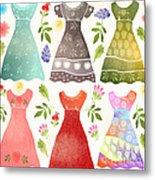 Colorful Dresses Metal Print