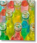 Colorful Drink Bottles Metal Print