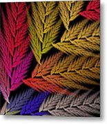Colorful Feather Fern - Abstract - Fractal Art - Square - 2 Tr Metal Print