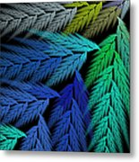 Colorful Feather Fern - Abstract - Fractal Art - Square - 3 Ll Metal Print